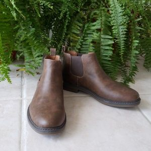 Brown Slip In Boots